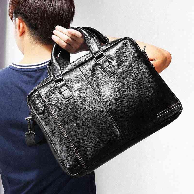 Leather Men Business Handbag