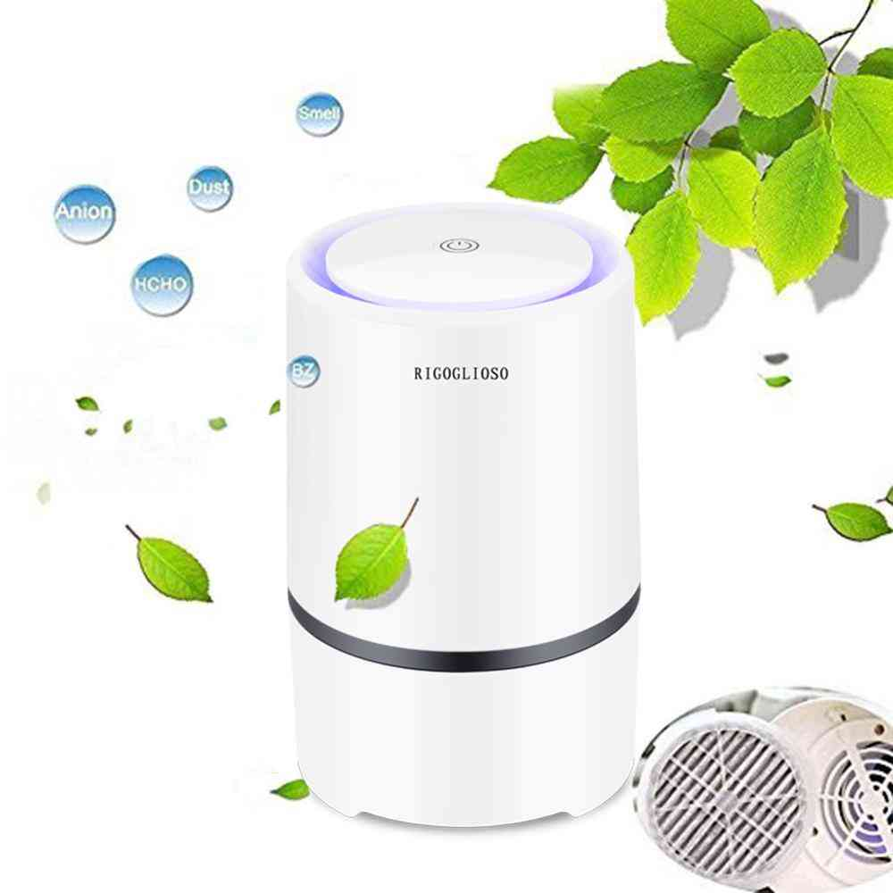 Electric Usb Air Purifier For Home With Led Night Light