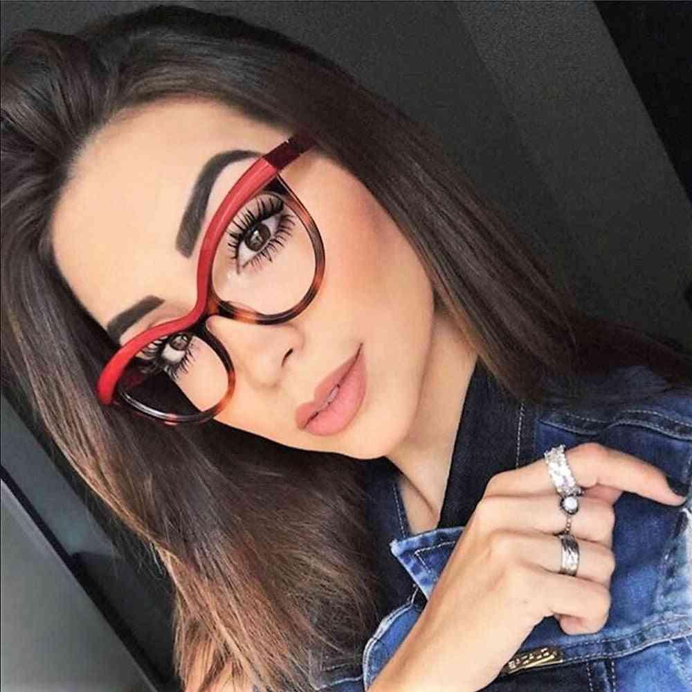 Ladies Eyebrows Square Frames Women Brand Designer Optical Fashion Eyeglasses Computers