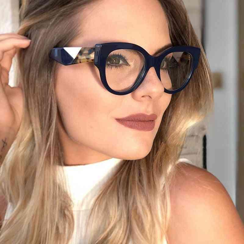 Acetate Optical Eyeglasses, Oversize Big Rim Frame Spectacles, Women Prescription