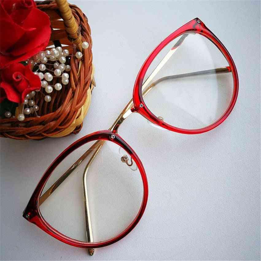 Optical Transparent Clear Lenses Women's Glasses