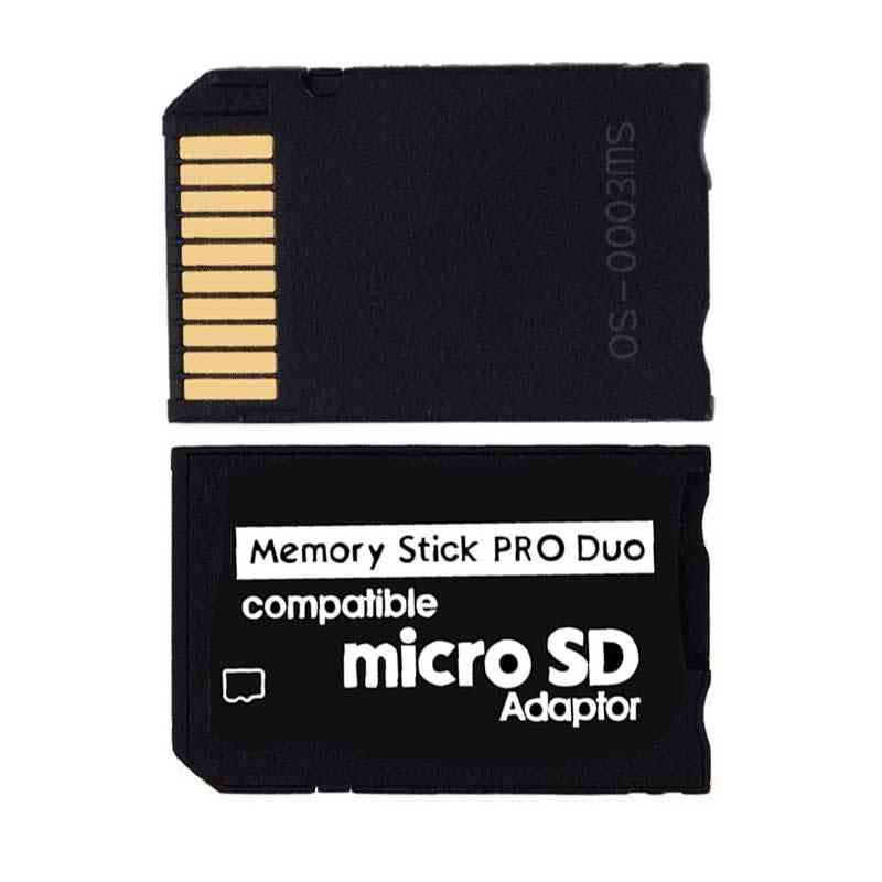 Ingelon Memory Stick Pro Duo Adapter Micro Sd To Memoria Stick Card Tf To Ms Card Reader