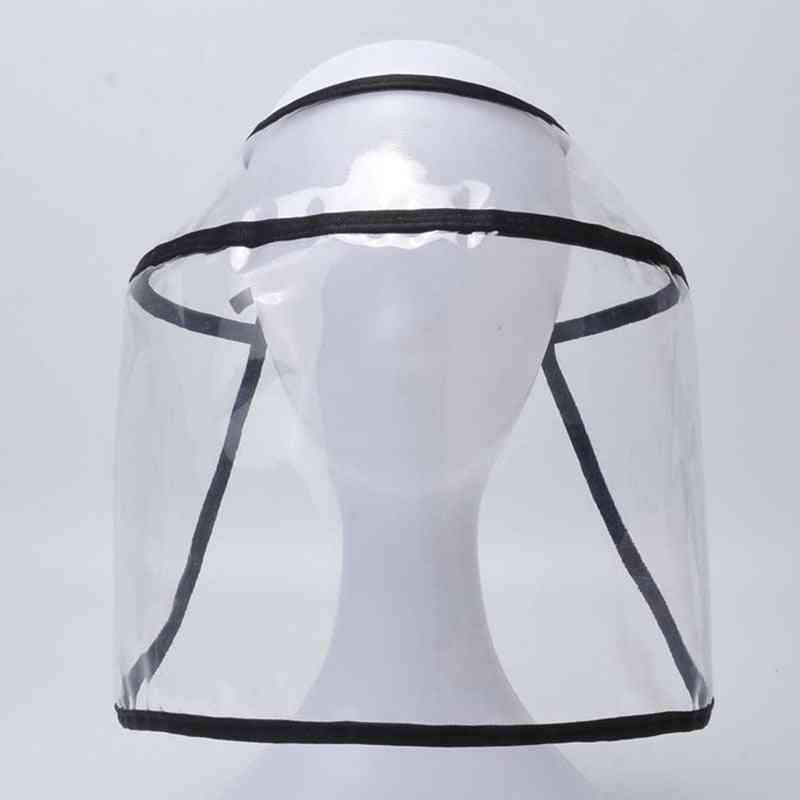 Transparent Visually Helmet Protective Hats Adult Safety Visor Cap Hat Face Cover Shield