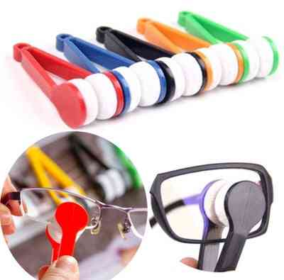 Handy Glasses Cleaner Tools, Super Fine Fiber Rub Power With Lens Clothes Cleaner