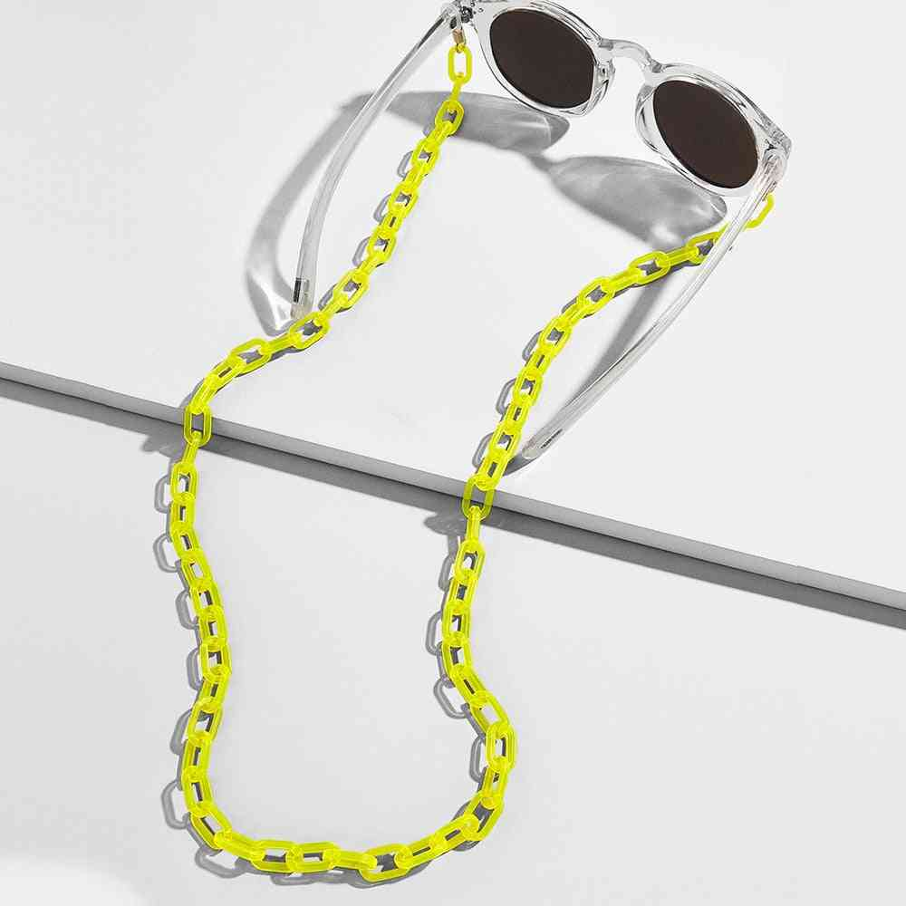 Wide Acrylic, Anti-slip And Adjustable Eyeglass Holder Neck Chains