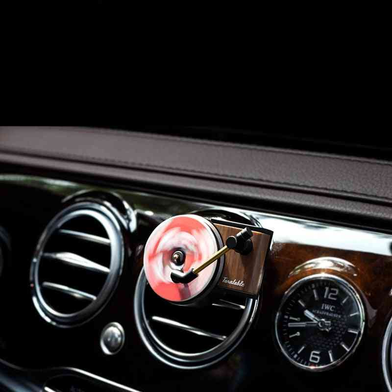 Car Air Freshener Record Player Perfume - Auto Air Vent Clips Interior Accessories