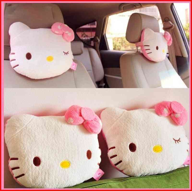 Hello Kitty Pillow, Baby Car Headrest, Neck Cartoon Seat Accessories
