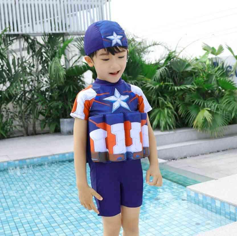 Children Detachable Buoyancy Floating Bath Zipper Life Jacket Baby Sunscreen