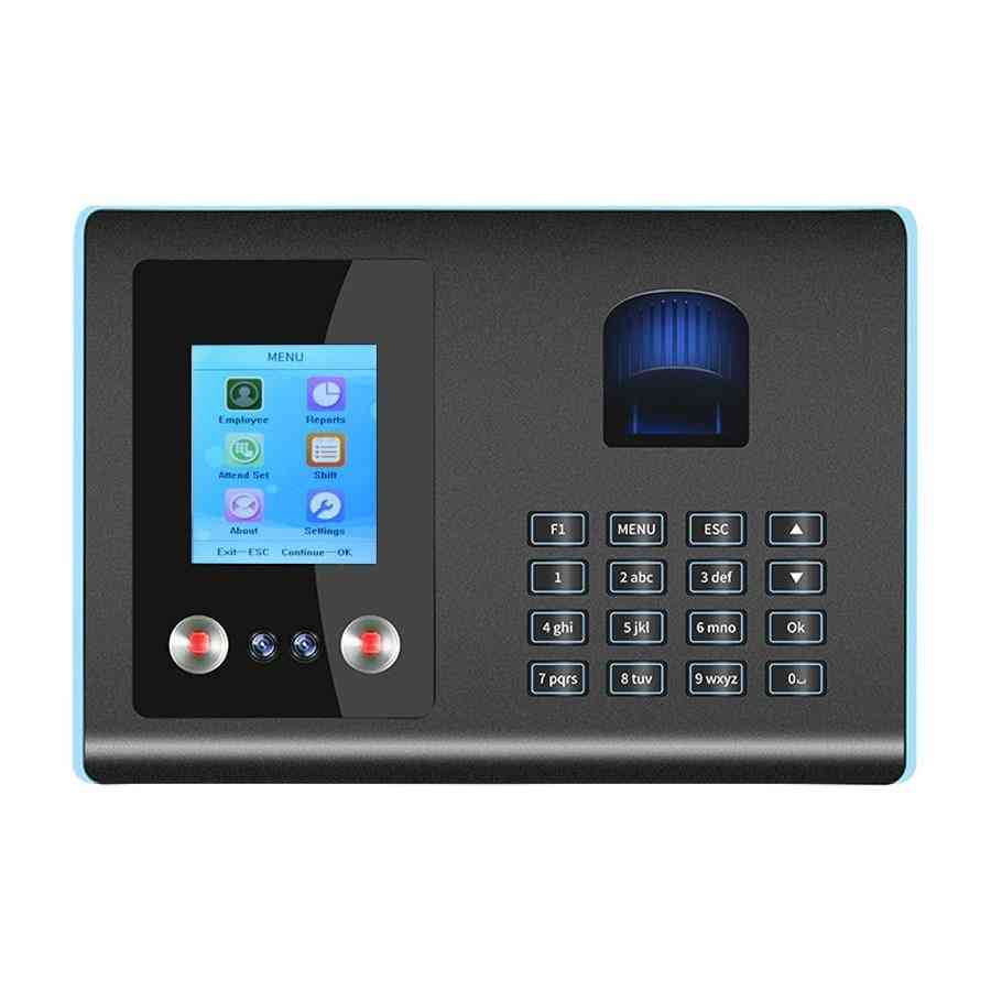 Biometric Face, Fingerprint, Recognition Time Attendance System, Device Machine