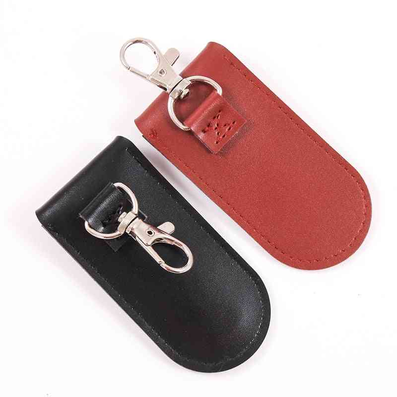Bag Case Protective Leather Key Ring For Usb Flash Drive Pendrive Memory Stick Otg