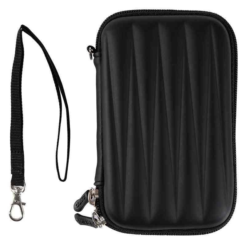 2.5 Inch Hdd Bag Hard Disk Case Zipper Pouch /mini Powerbank Eva Box Carrying Case