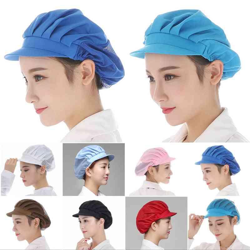 Elastic Mesh Visors Caps, Men & Women Breathable Workshop Hat
