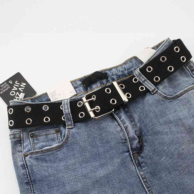 New Designer, Double Grommet Hole Buckle Belt