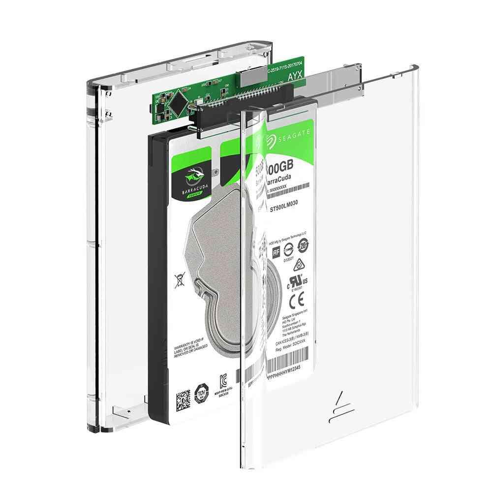 Rocketek Case 2.5 Inch Sata To Usb 3.0 Ssd Adapter, Hard Disk Drive Box External Hdd