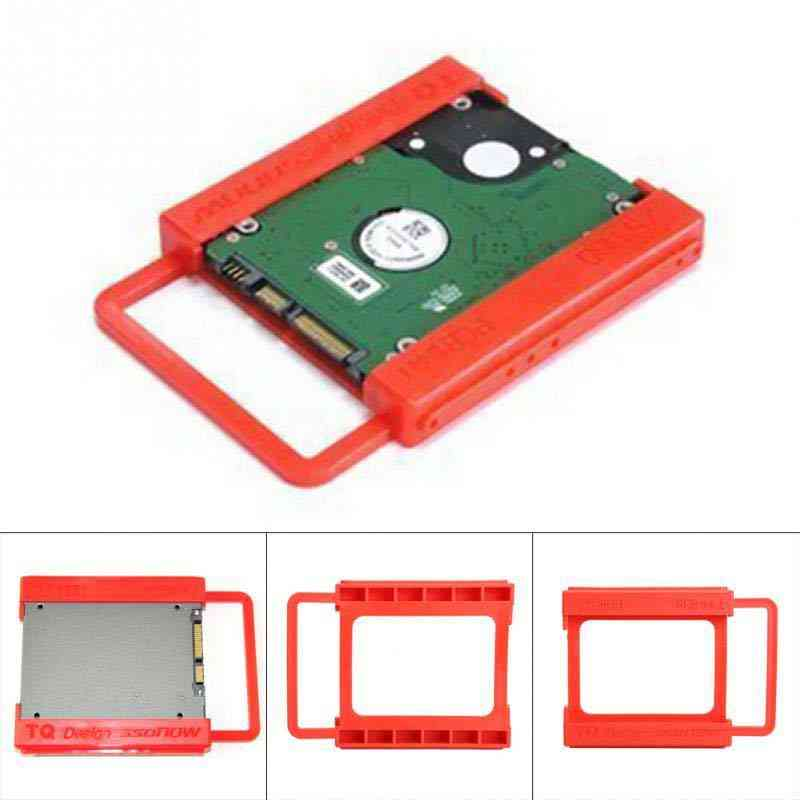 Ssd To Hdd Plastics Adapter Mounting Bracket Hard Drive Holder