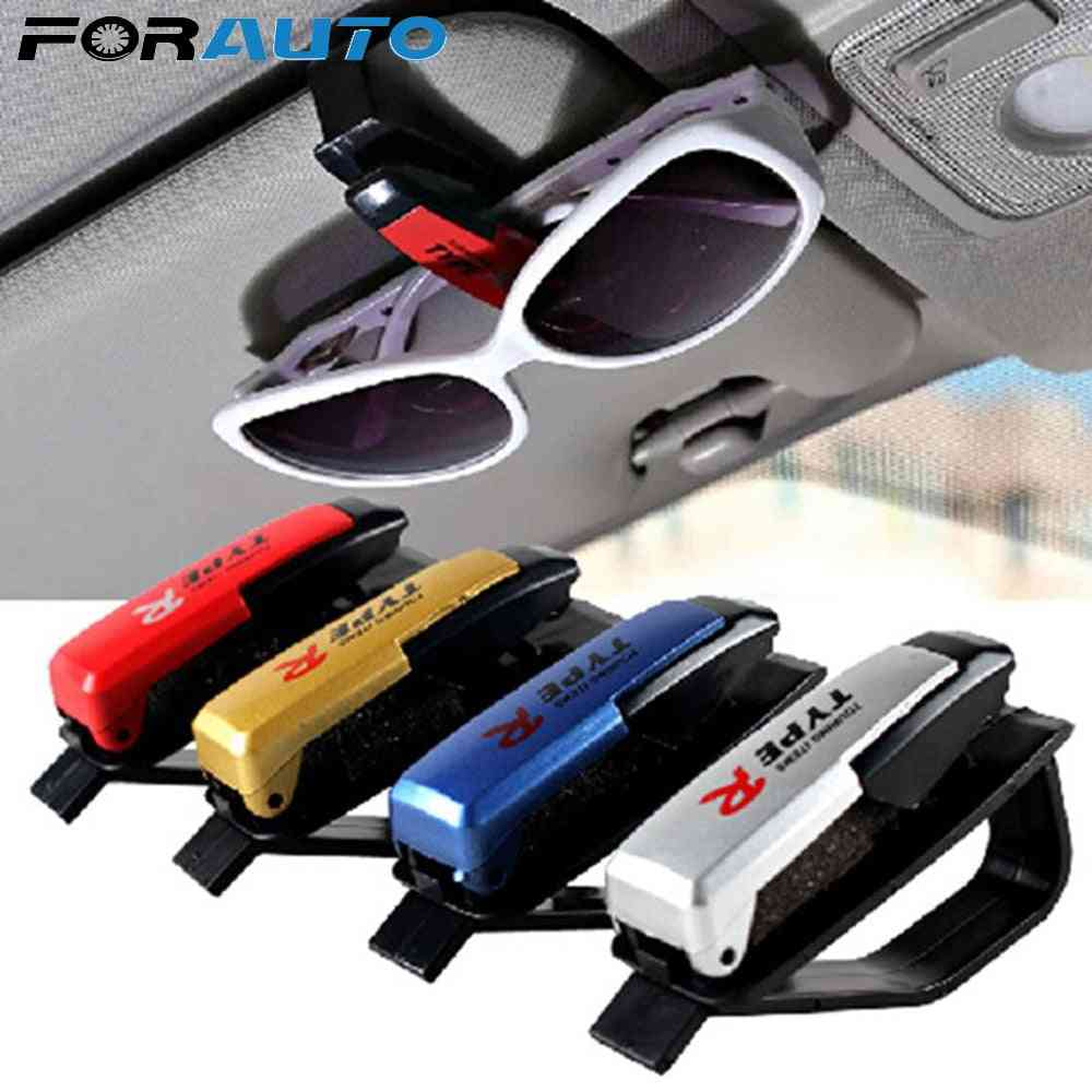 Universal Car Glasses Cases Ticket Card Clamp, Portable Eyeglasses Clip