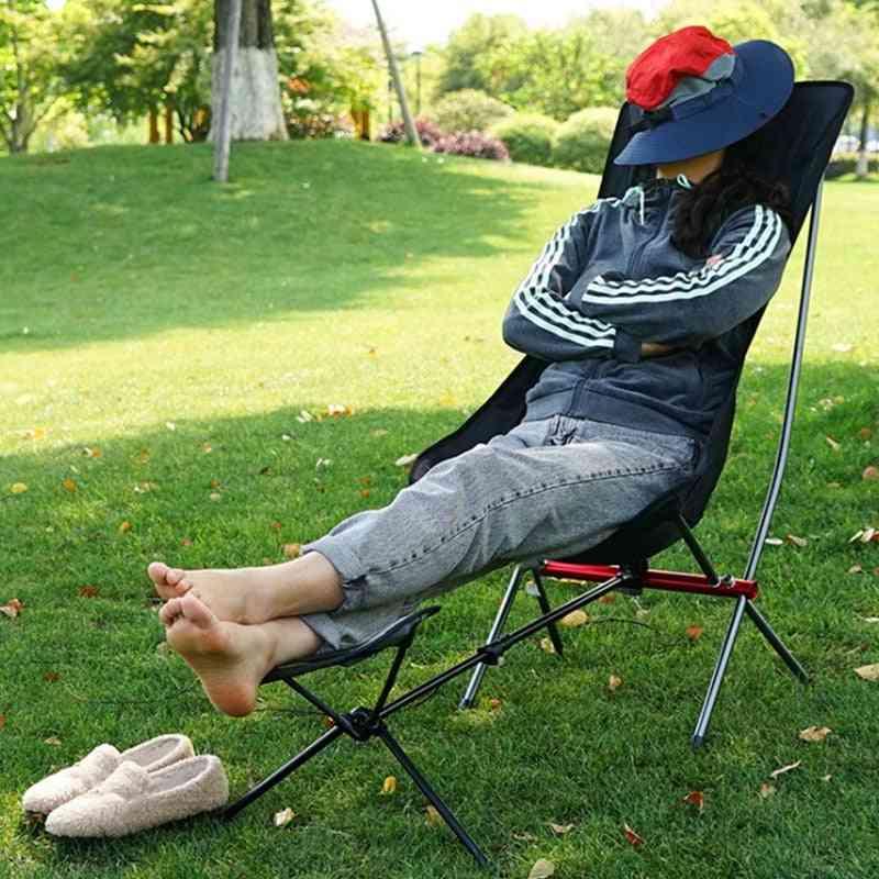 Outdoor Folding Footrest Portable Recliner Extended Leg Stool