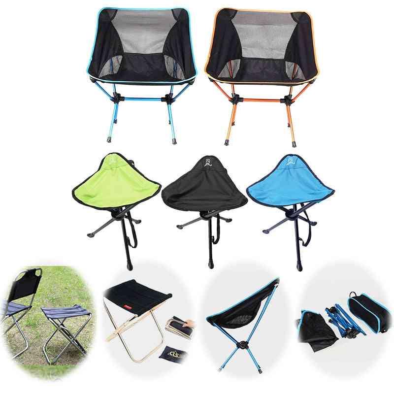 Lightweight Folding Beach Chair, Outdoor Portable Camping Seat