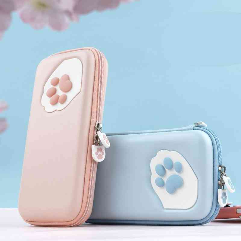 Cat Claw Storage Bag, Silicone Hard Shell Cover Box For Nintendo Switch Lite