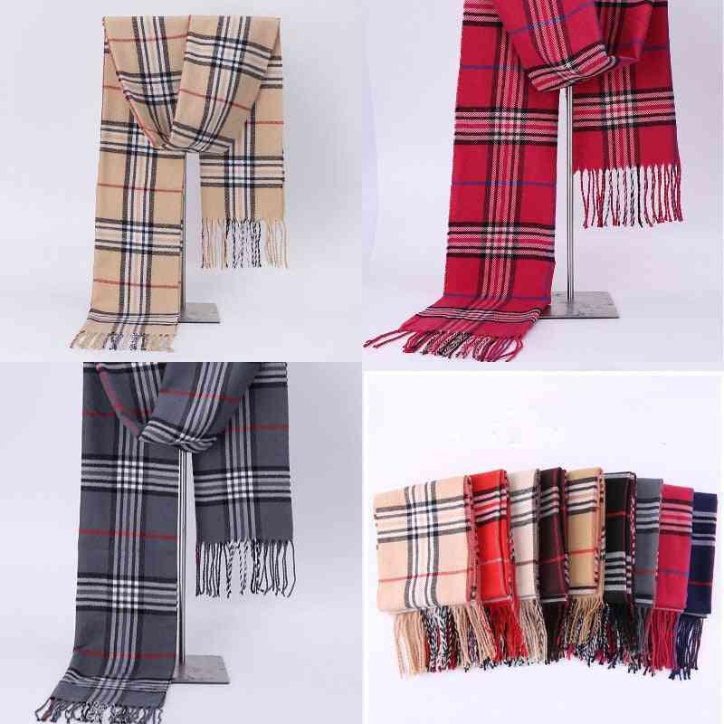 Men Women Plaid Autumn Winter Fashion Casual Scarfs