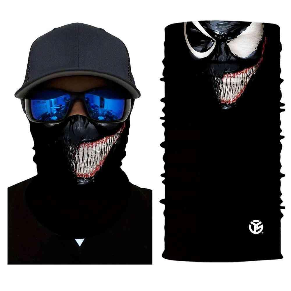 3d Seamless Venom Magic Bandana Neck, Scarves Sun Guard Face Headband Scarf