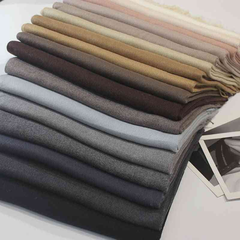 Women Cashmere Scarves With Tassel, Lady Winter Autumn Long Scarf