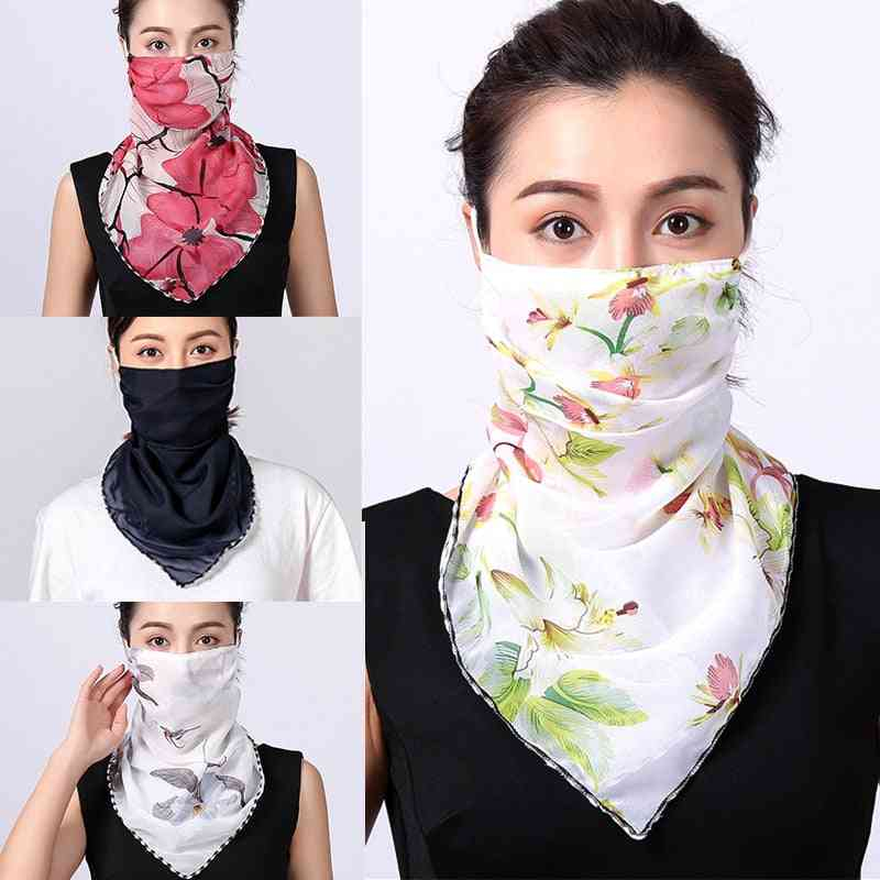 Women Choffin Face Mouth Scarf, Sun Protection Scarves