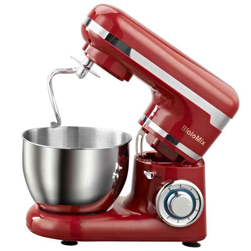 Stand Mixer Bowl With 6-speed Kitchen Food Blender For Cream, Egg, Whisk, Cake, Maker