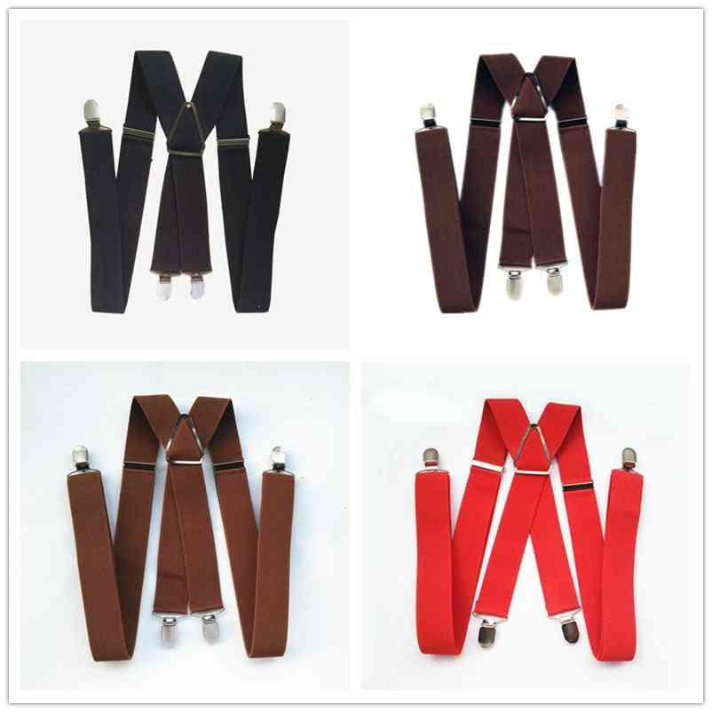 Unisex Adult Suspenders-adjustable Elastic Trousers Braces
