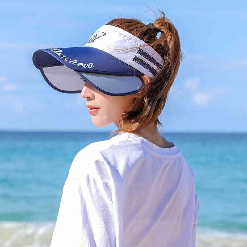 Summer Outdoor Sun Stretchable Empty Top Sun Visor Hats