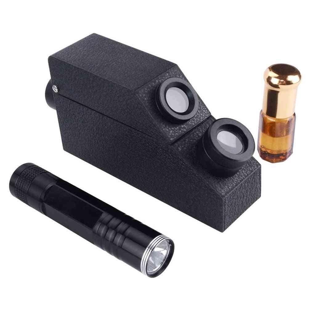 Gemology Gemstone Polarizing Filter Gem Refractometer, 1.81 Ri Oil Led Gem-tester