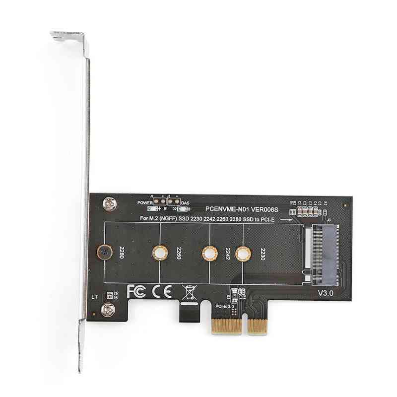 Pci-e 3.0 X1 To M.2 Nvme M Key Slot Converter Adapter With Low Profile Bracket