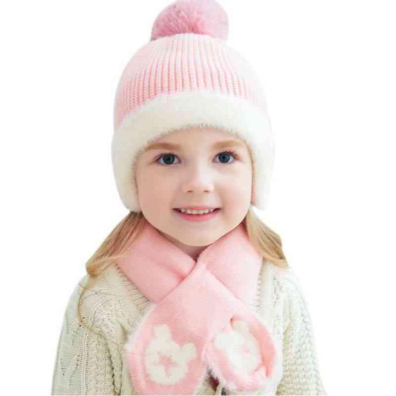 Five-star Hair Ball & Winter Knit Hat Scarf Set