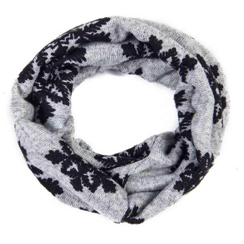 Snowflake Muffler, Winter Warm Scarf For Baby Boy,