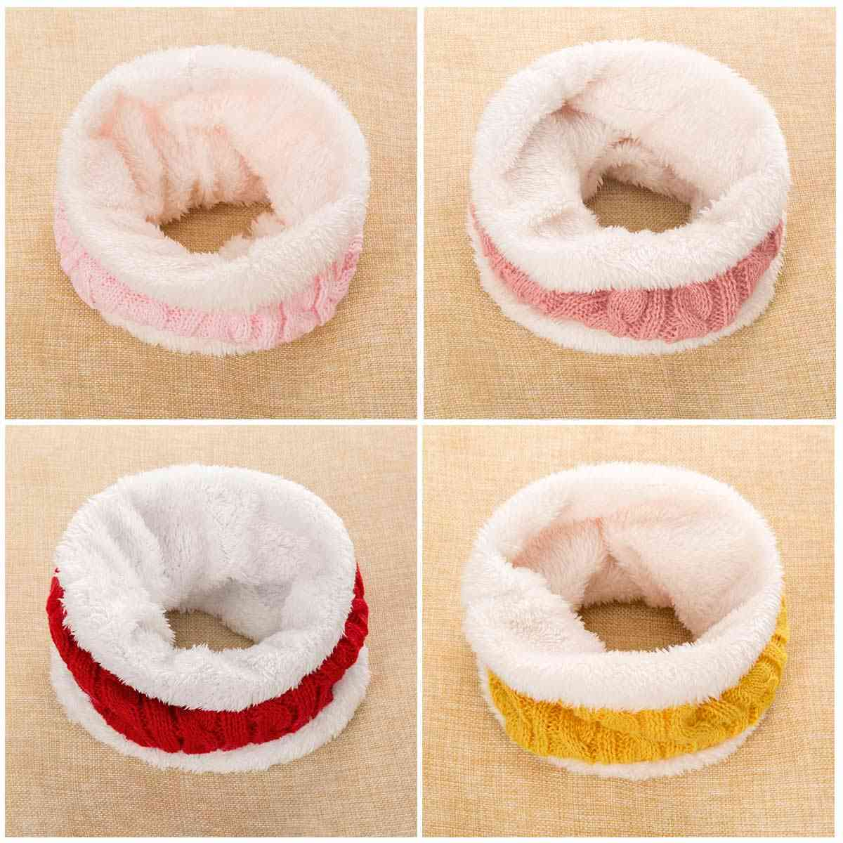 Casual Winter Ring Scarf For Fashion Necker Chief Thickened Snood Scarves
