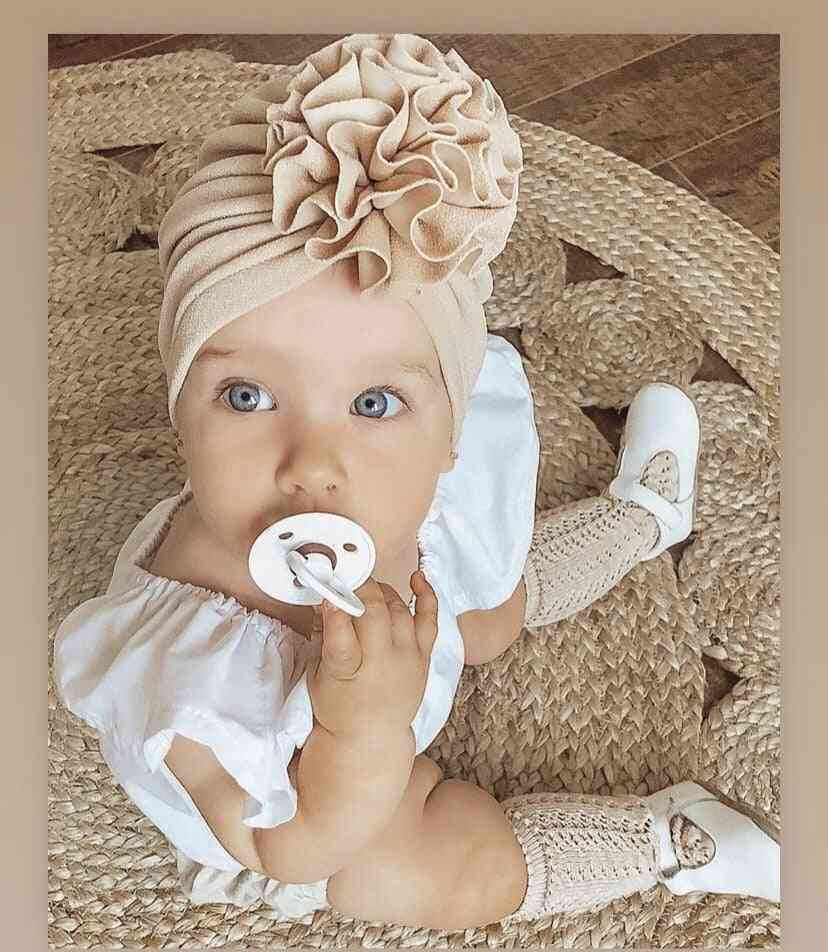 Corn Flowers Design, Round Shaped Princess Soft Hats For Babies