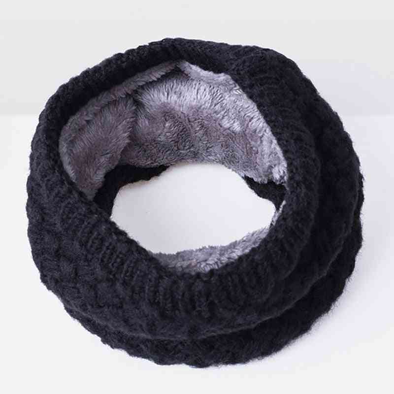 Unisex Winter Warm Thickened Wool Collar Scarves