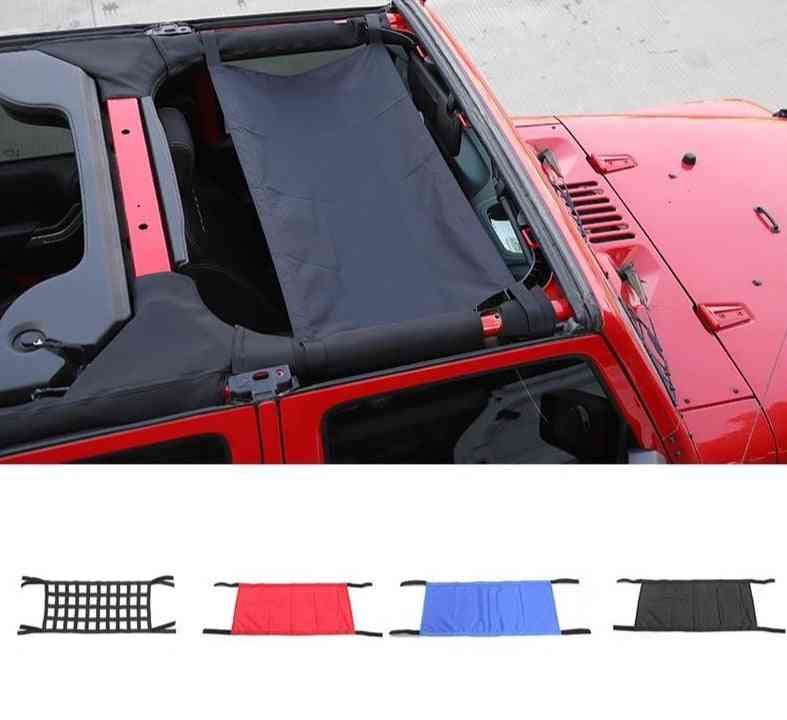 Car Roof Cover For Jeep, Wrangler Top Cargo Net