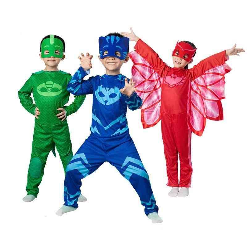 Children Christmas Halloween Cosplay Costume Pj Mask