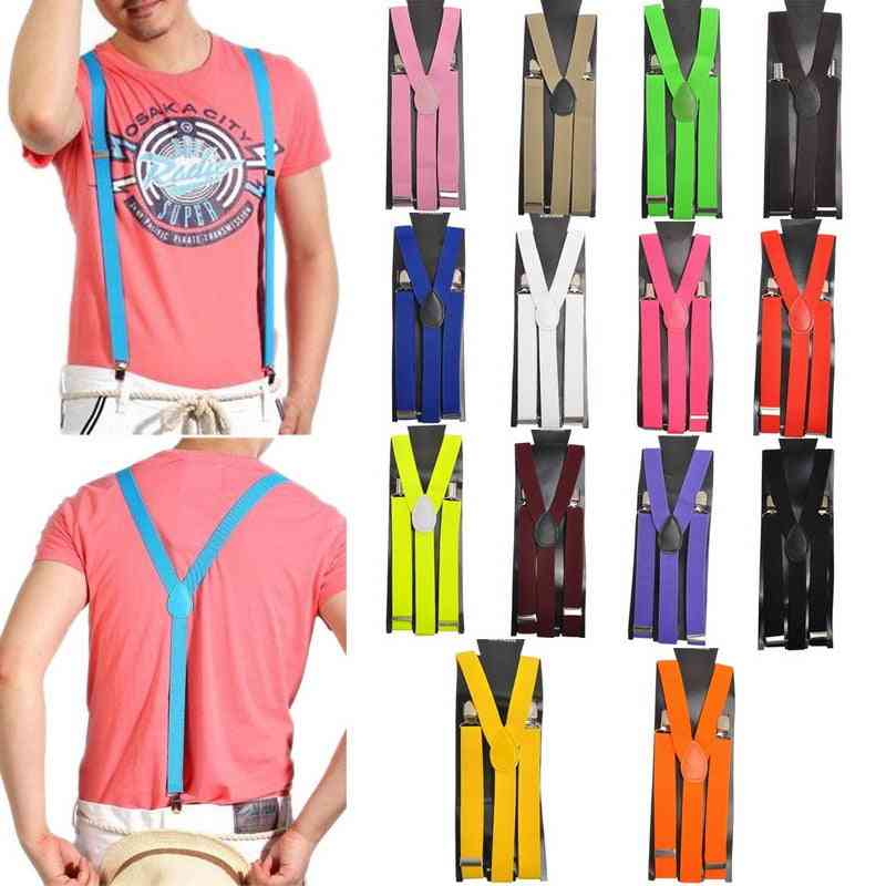 Adjustable Elasticated Adult Women Men Y Shape Elastic Clip-on Suspender