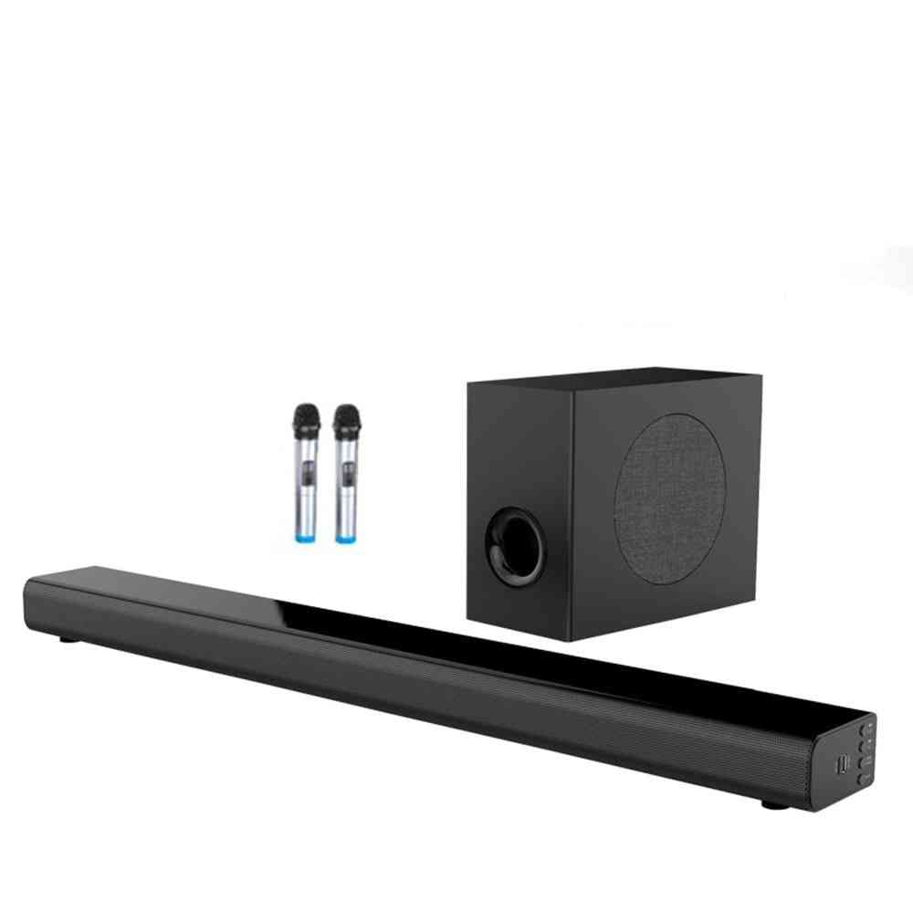 Wall Pure Wood Speaker Sound Bar Home Theater Subwoofer Bluetooth