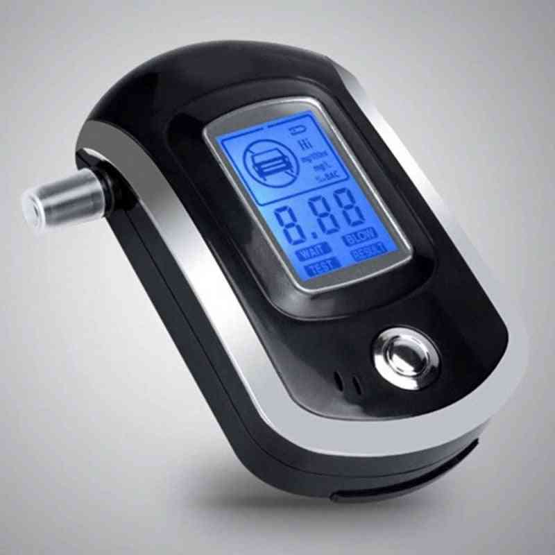 At6000, 5-mouthpieces- Digital Breath, Alcohol Tester Breathalyzer With Lcd Dispaly