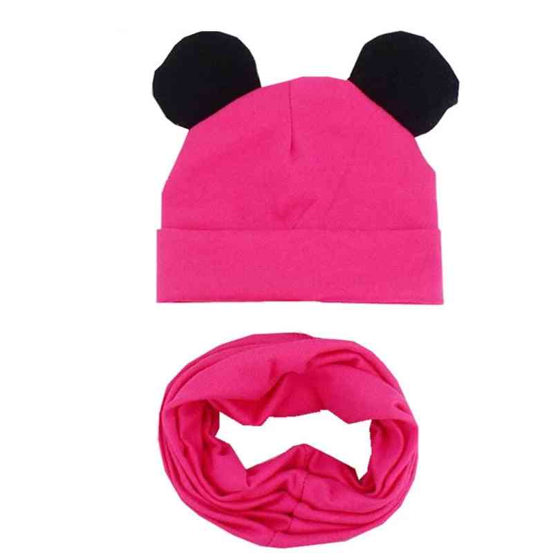 Cotton Hat Scarf Set,'s Lovely Ears Caps
