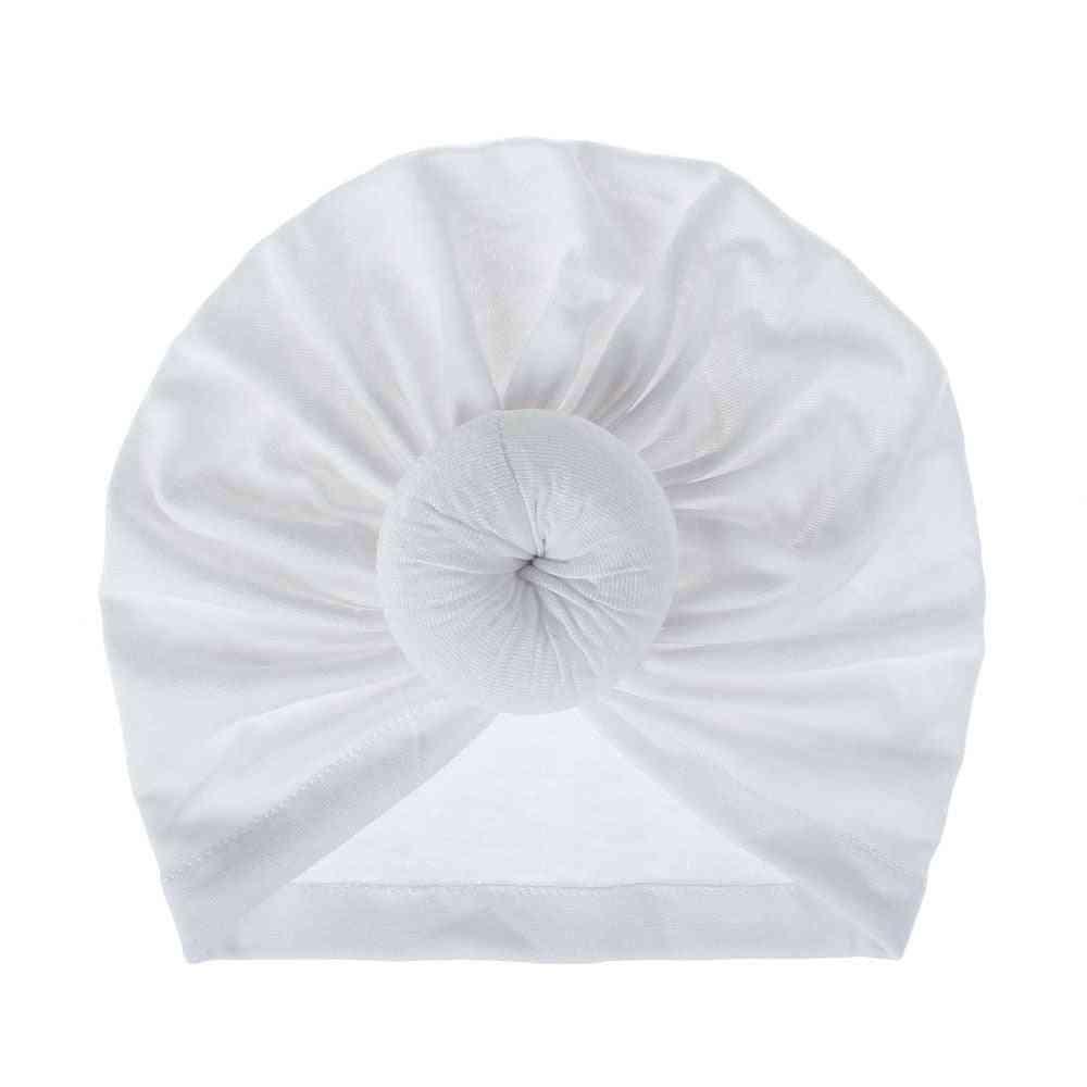 Cotton Turban Top Donut Hat Lovely Soft Newborn Cap