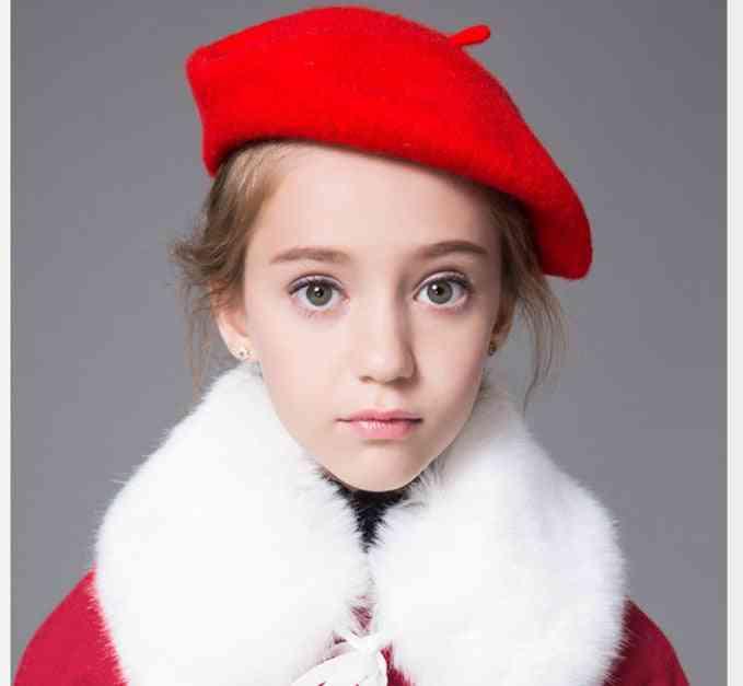 Woollen Beret's Warm Coat Hat