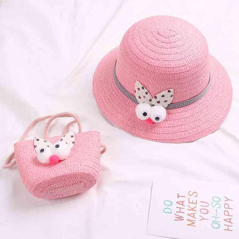Summer Hat, Kids Cap & Beach Cartoon Tote Handbag Suit