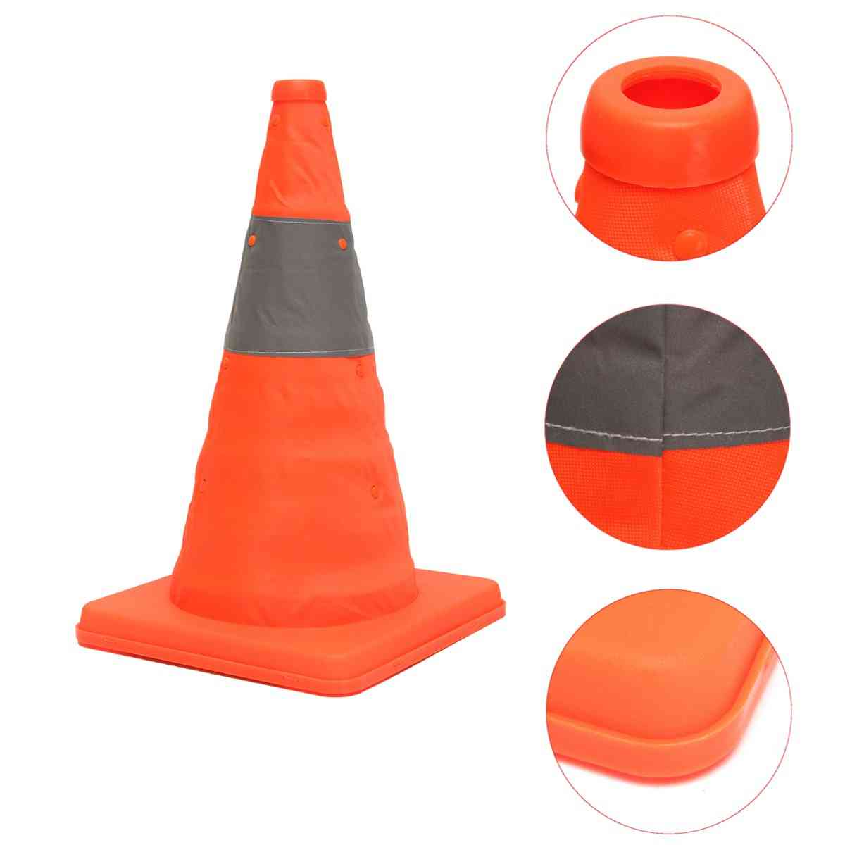 Folding Collapsible, Road Safety Cone For Traffic Pops-up Parking