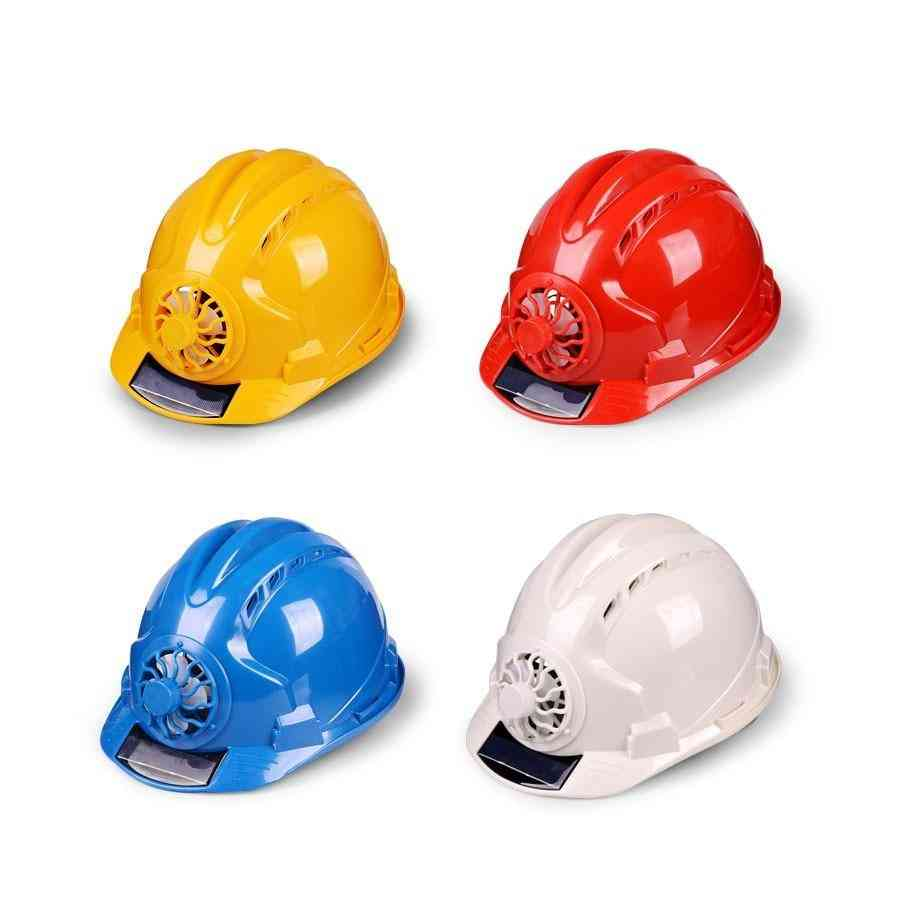 Solar Power Fan Helmet, Outdoor Working, Safety Hard Hat, Protective Cap