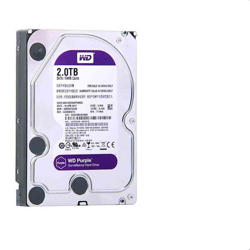 2.0 Tb Surveillance Hard Drive For Security System