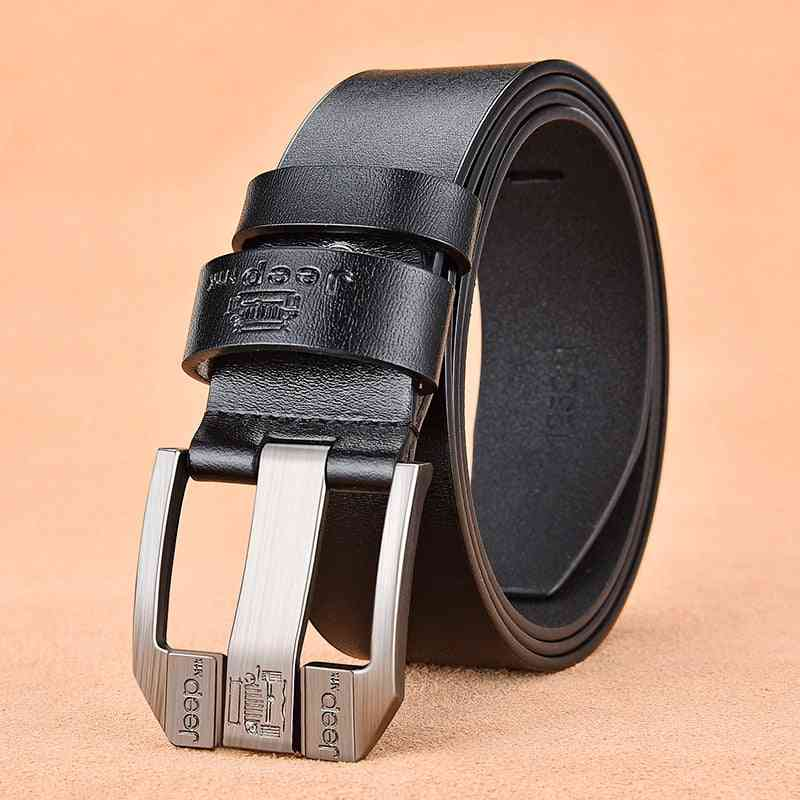 Men's Genuine Leather Luxury High-quality Alloy Pin Buckle Belt
